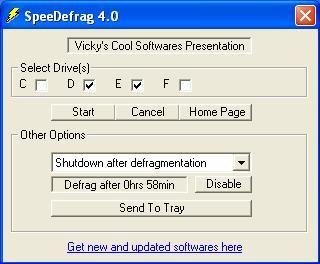 Внешний вид SpeedDefrag