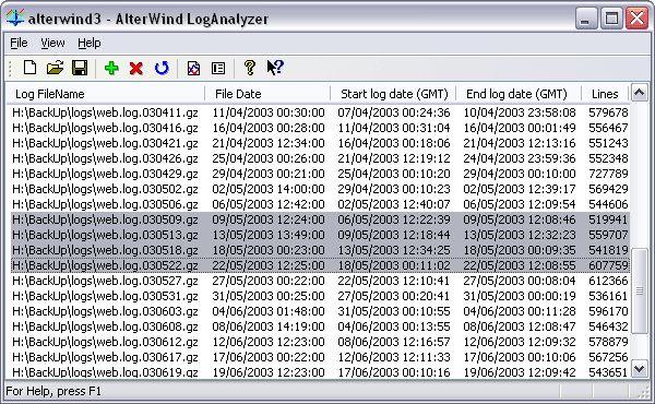 Как создать log файлы