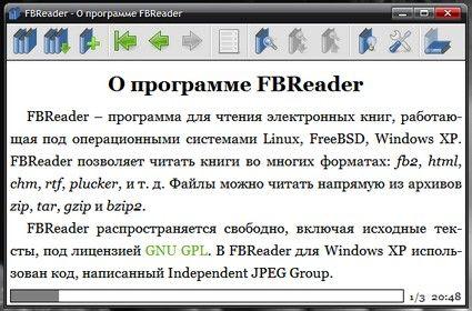Скриншот к программе FBReader 0.10.5