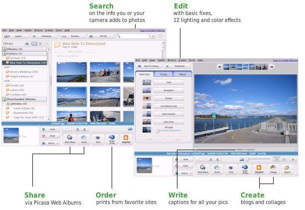 Скриншот к программе Picasa for Linux 3.0 beta