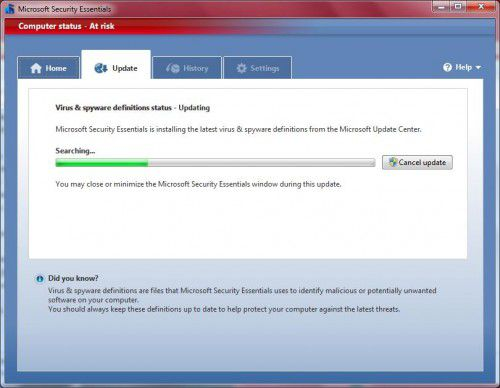 Microsoft Security Essentials (Windows XP)