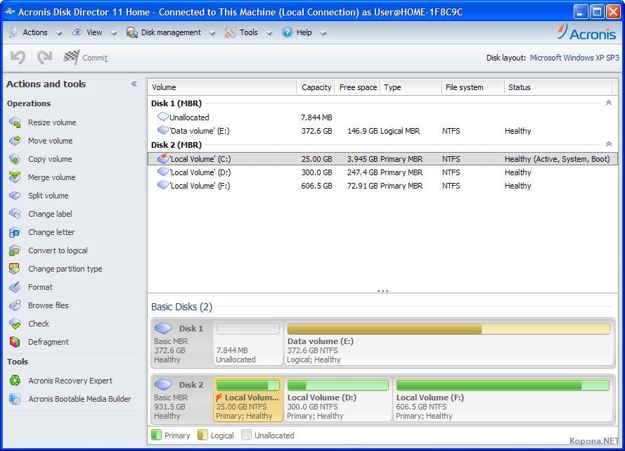 Ответы подскажите ключ для Acronis Disk Director 11.