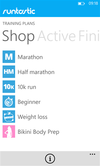Runtastic (Windows Phone/10) Free/Pro