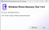 Windows Device Recovery Tool / Nokia Software Recovery Tool