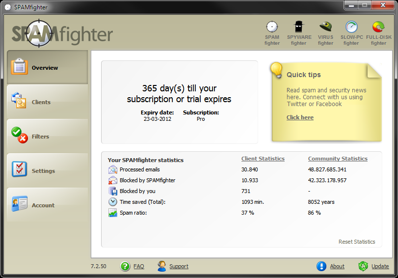 SPAMfighter Standart 7.5.133 Cracked