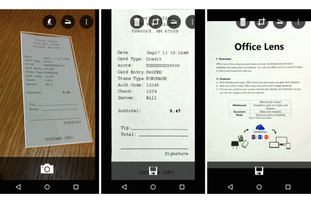 Microsoft Office Lens (Android)