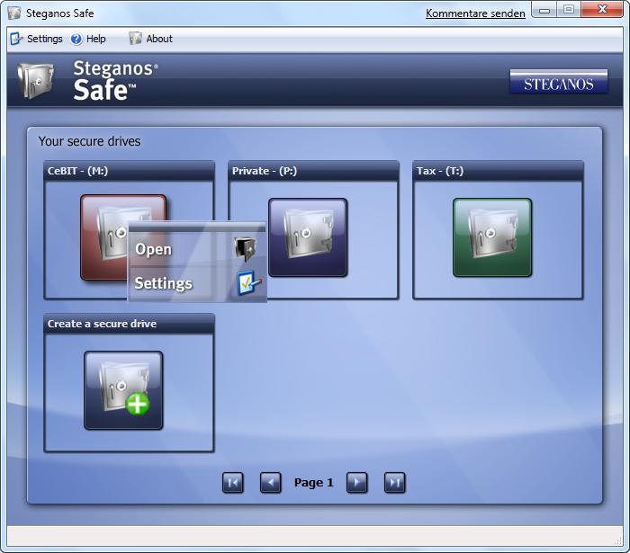Steganos Privacy Suite. ОписаниеКомментарииОценитьСтатистика